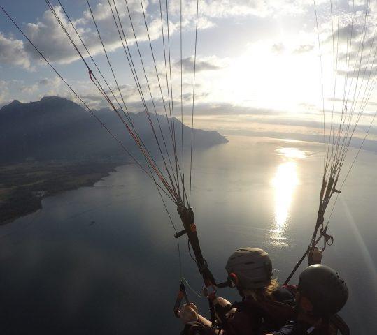 Voler sur le Lac Léman