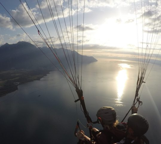 Flying over Lake Geneva